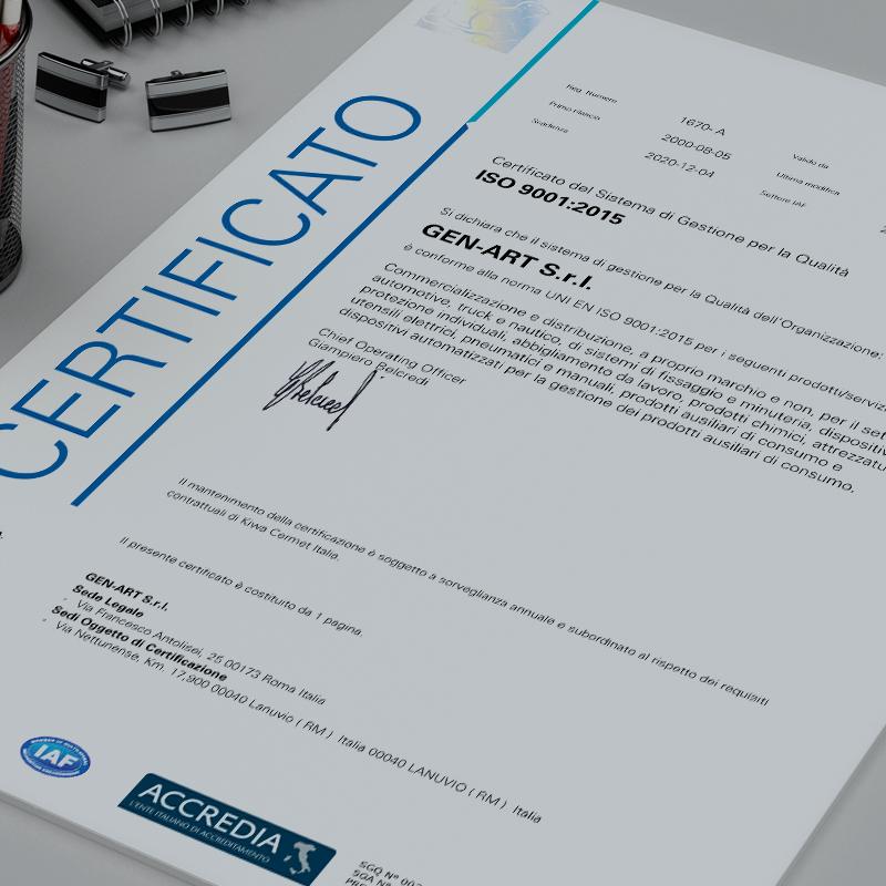 certificato kiwa sistemi gestione qualità