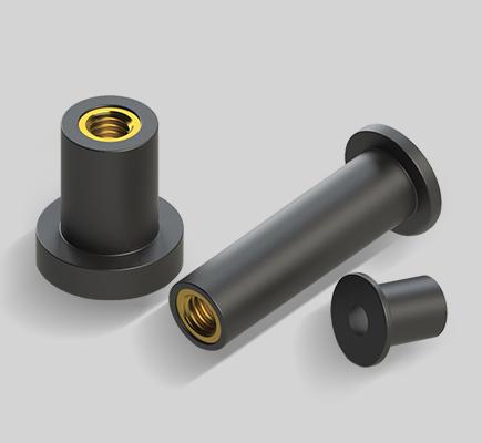 inserti filettati cilindrici anti vibrazione