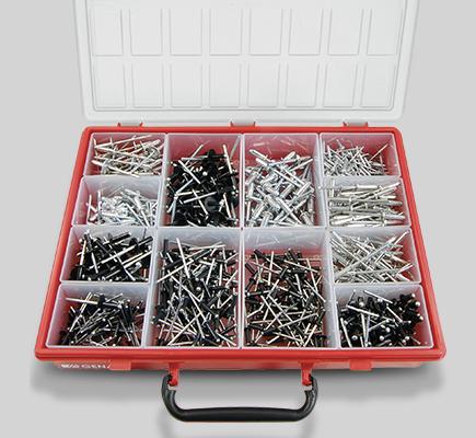 assortimento rivetti strappo alluminio cassetta