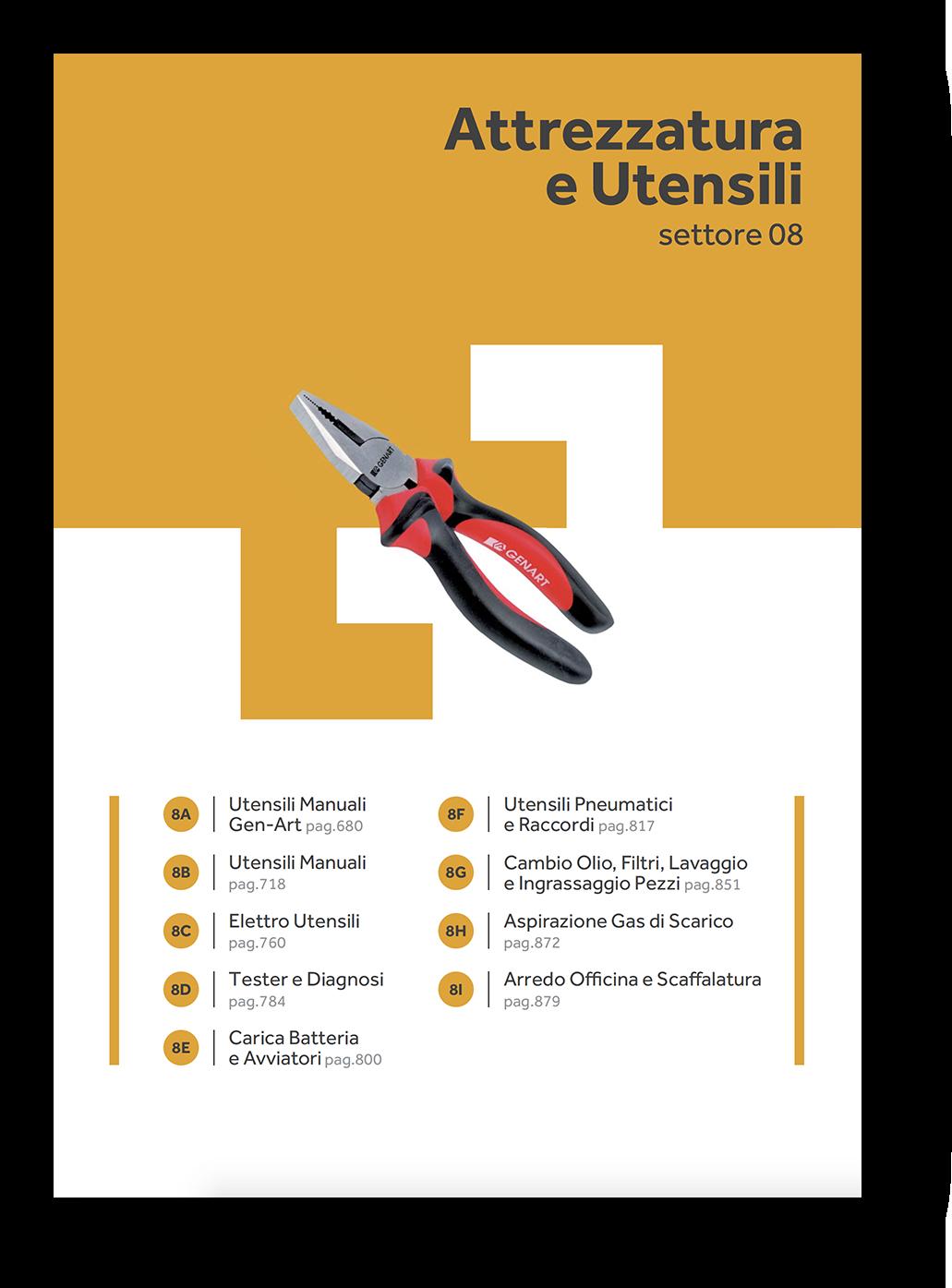 attrezzatura manuale autoriparazione meccanici catalogo