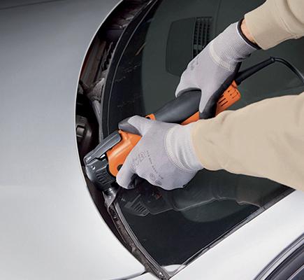 coltello elettrico parabrezza levigare vetro auto