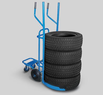 carrello porta pneumatici gomme ruote officina gommista
