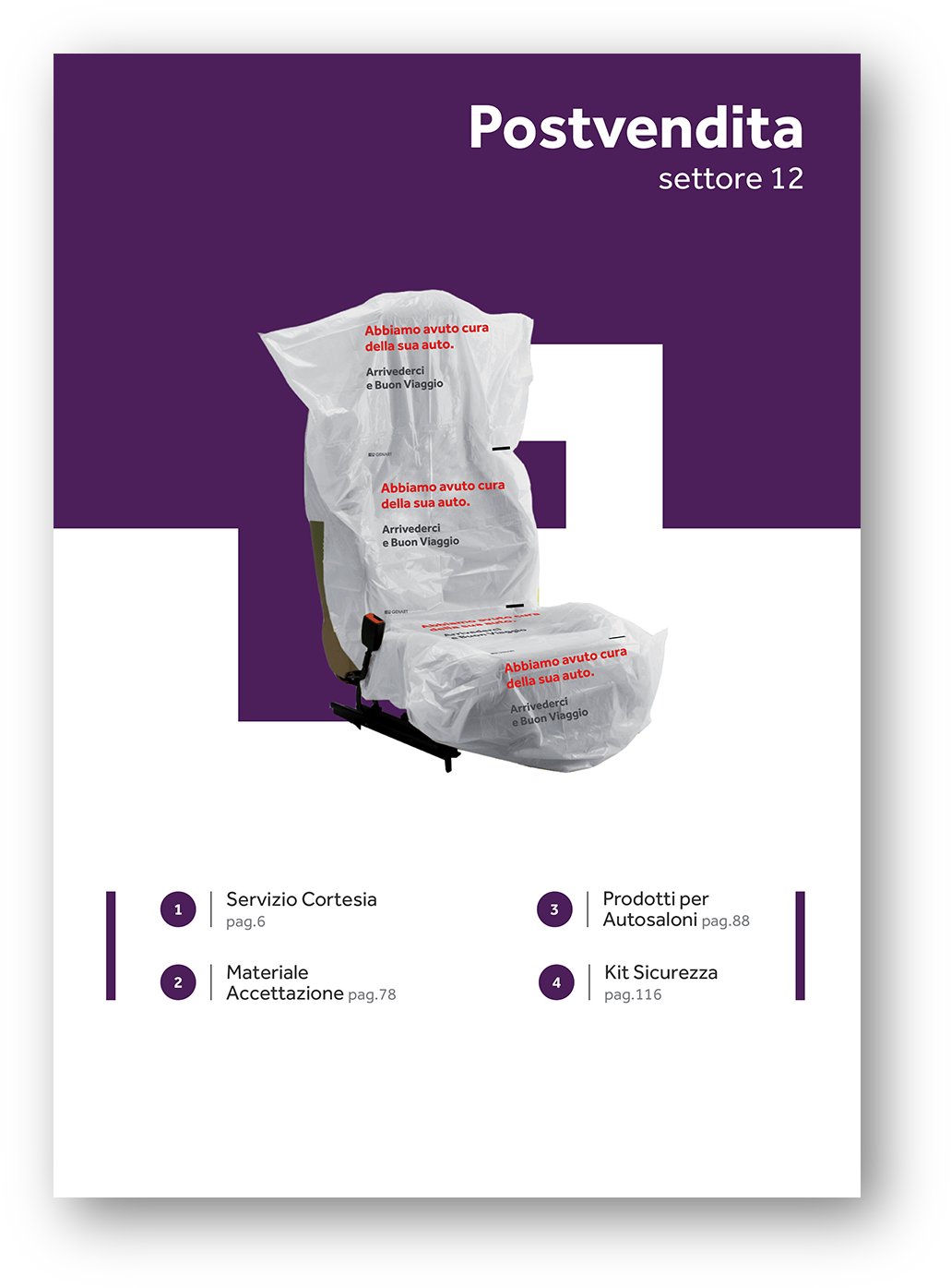 accettazione autosaloni concessionarie materiale postvendita catalogo