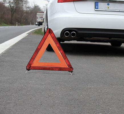 triangolo segnala pericolo strada omologato