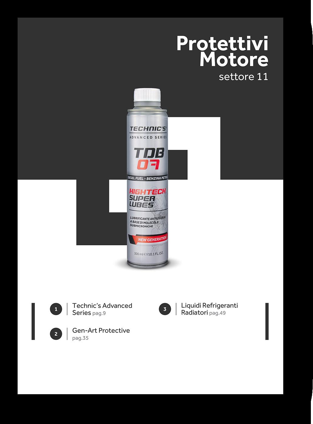 protettivi lubrificanti manutenzione motore technic's gen-art