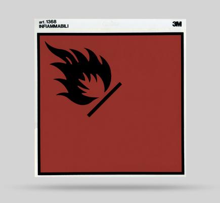 pericolo incendio cartello segnale adesivo