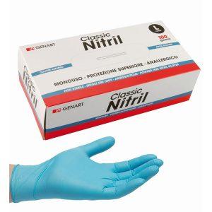 guanti nitrile monouso protettivi rinforzati