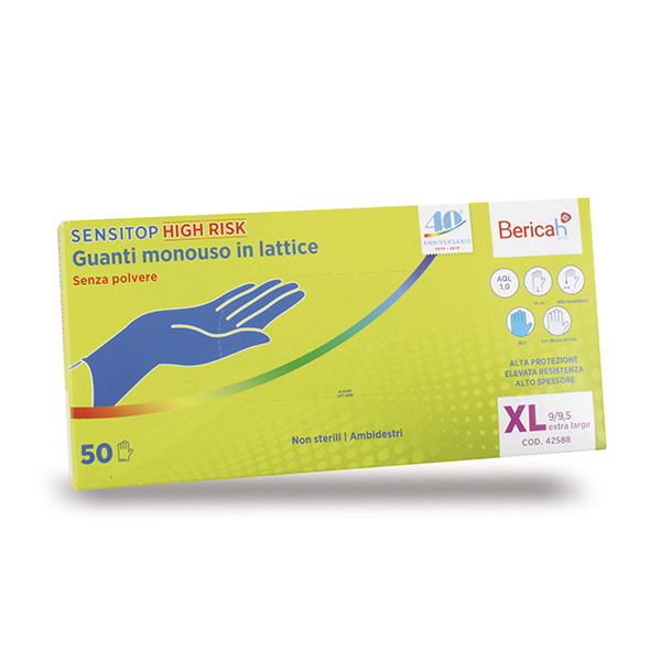 guanti lattice monouso senza polvere