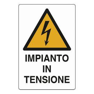 cartello pericolo impianto tensione segnale