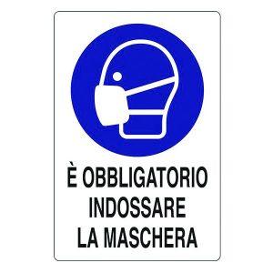 cartello segnalatore obbligo mascherina