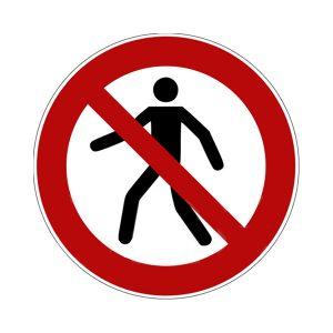 divieto entrata cartello segnalatore