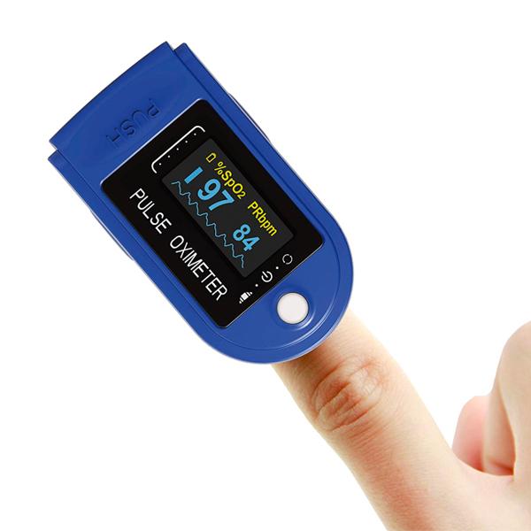 saturimetro misura ossigeno sangue dito